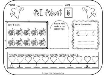 Valentine Number Order 0-10