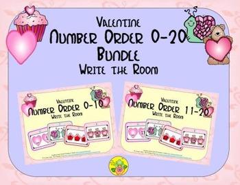 Valentine Number Order 0-20 Bundle