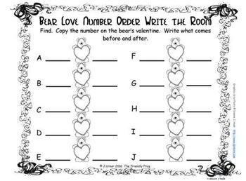 Valentine Number Order 11-20