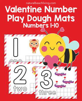 Valentine Number Playdough Mats