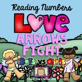 Valentine Number Sense - Fun Fight