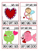 Valentine Number Sequence Clip Cards ● Numbers 1-100 ● Math Centers