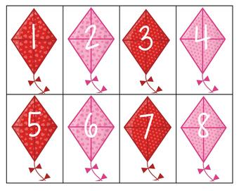 Valentine Number Snap Game