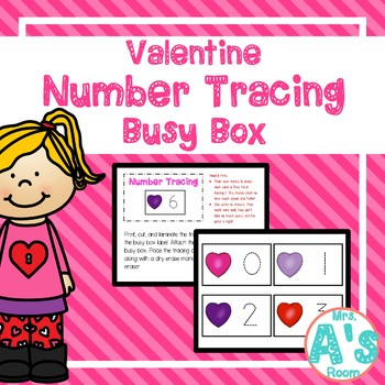 Valentine Number Tracing Busy Box