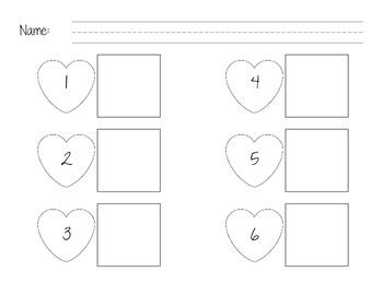 Valentine Number Words (1 - 6)