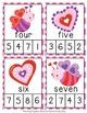 Valentine Number Words Clip Cards
