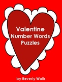 Valentine Number Words Puzzles
