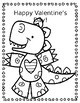 Valentine Number Writing Practice BONUS Dino Color Sheet