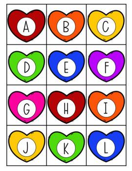 Valentine Number and Letter Sort