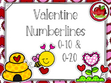 Valentine Numberlines - Addition and Subtraction Practise to 10 and 20