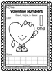 Valentine Numbers 1-10:  Count, Color, & Trace