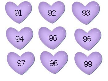 Valentine Numbers 1-100