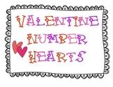 Valentine Numbers 1-30