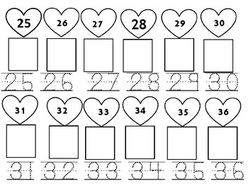 Valentine Numbers 1-50