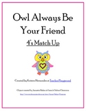 Valentine OWL Addition 4's Matching Game