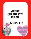 Valentine Odd and Even Practice