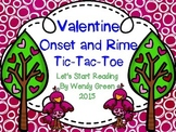 Valentine Onset and Rime Tic Tac Toe
