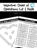 Valentine: Order of Operations Cut and Paste