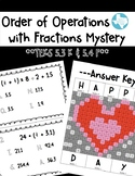 Valentine - Order of Operations (w/ fractions)