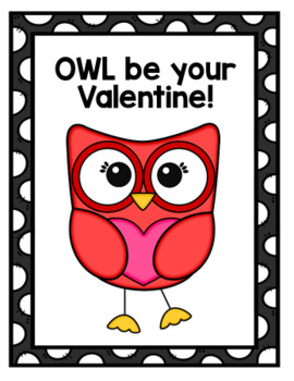Valentine Owl Activities and Cards
