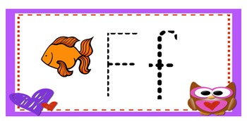 Valentine Owl Alphabet Tracing