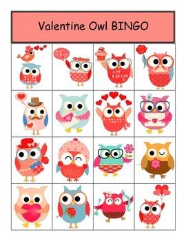Valentine Owl BINGO