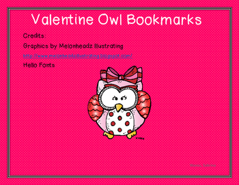 Valentine Owl Bookmarks