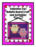 Valentine Owl Bulletin Board Craft and Activities