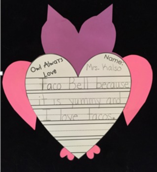 Valentine Owl Craftivity