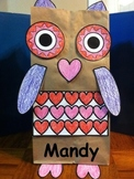 Valentine Owl Holder Craft