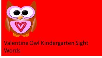 Valentine Owl Kindergarten Sight Words