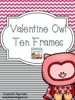 Valentine Owl Ten Frames