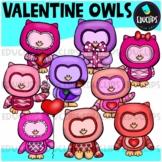 Valentine Owls Clip Art Bundle {Educlips Clipart}