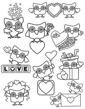 Owls Valentine Card Vector - Download Free Vectors, Clipart Graphics &  Vector Art
