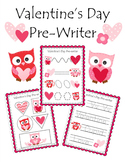Valentine Owls Pre-Writer for Beginning Writers