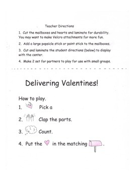 Valentine Pack: Games, Centers, Fluency, Worksheets 27 pages!