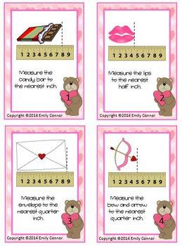 Valentine Pack: Measurement, Main Idea, Procedural, & Word Problems