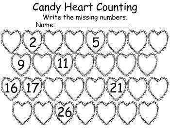 Valentine Packet, Math and Literacy for PreK, Kindergarten, FREE VERSION