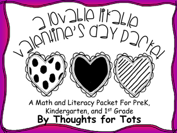 Valentine's Day Packet, Math and Literacy, and Games