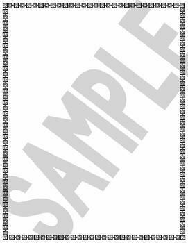 Valentine Page Frames Clip Art Set (Black frames - Transparent centers)