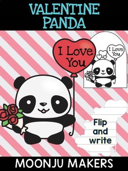Valentine Panda with Roses - Moonju Makers, Activity, Valentine's Day, Writing