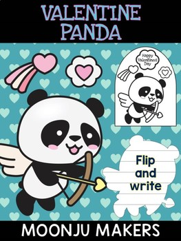 Valentine Panda Cupid Heart - Moonju Makers, Activity, Valentine's Day, Writing