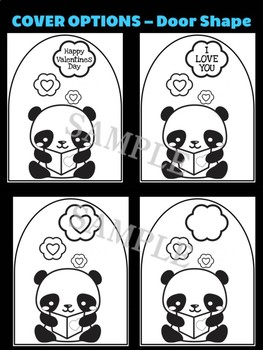 Valentine Panda Love Letter B - Moonju Makers, Activity, Craft, Valentine's Day