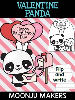 Valentine Panda Love Letter A - Moonju Makers, Activity, Craft, Valentine's Day