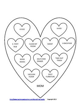 Valentine Parent Gift, Valentine Coupons, Valentine Card, Valentine Poem