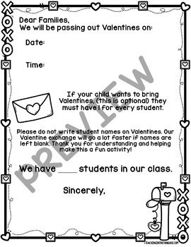 Valentine S Day Party Letter Free Editable By Teaching In The Tongass