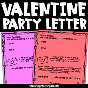 Valentines Party Letters Teaching Resources Teachers Pay Teachers
