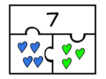 Valentine Part Part Whole Puzzles