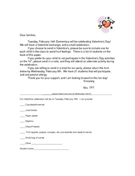 Valentine Party Letter