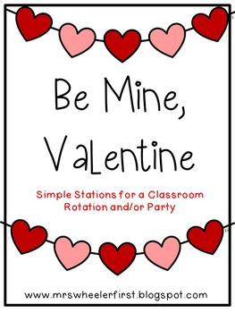 First Grade Valentine Party Pack